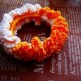 オレンジ*ホワイトシュシュ